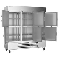 Beverage-Air HBF72HC-5-HS Horizon Series 75 inch Bottom Mount Half-Door Reach-In Freezer