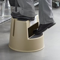 Rubbermaid FG252300BEIG Beige Mobile Two-Step Step Stool