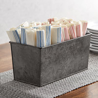 American Metalcraft BEVDG126 1/3 Size Onyx Galvanized Metal Rectangular Beverage Tub