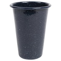 Crow Canyon Home K93NVY Stinson 14 oz. Navy Speckle Enamelware Tumbler
