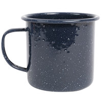Crow Canyon Home K112NVY Stinson 16 oz. Navy Speckle Enamelware Mug