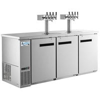 Avantco Stainless Steel Kegerator / Beer Dispenser with 2 Quadruple Tap Towers - (4) 1/2 Keg Capacity