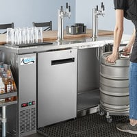 Avantco Stainless Steel Kegerator / Beer Dispenser with 2 Triple Tap Towers - (4) 1/2 Keg Capacity