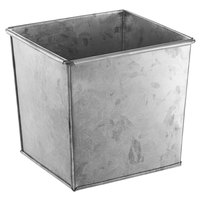 American Metalcraft BEVG6 1/6 Size Silver Galvanized Metal Rectangular Utensil Holder