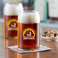 Acopa Select 16 oz. Customizable Can Glass - 12/Pack