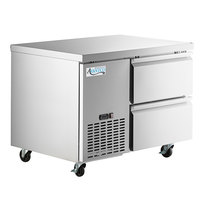 Avantco SS-UD-1RA 44 inch Stainless Steel Two Drawer Undercounter Refrigerator