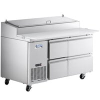 Avantco SSPPT-260C 60 inch 4 Drawer Refrigerated Pizza Prep Table