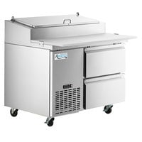 Avantco SSPPT-1A 44 inch 2 Drawer Refrigerated Pizza Prep Table