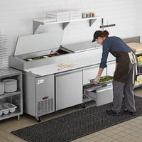 Avantco SSPPT-3F 93 inch 2 Door Refrigerated Pizza Prep Table with 2 Drawers