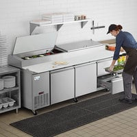 Avantco SSPPT-3E 93 inch 2 Door Refrigerated Pizza Prep Table with 2 Drawers