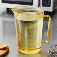 Cambro 400MCH150 4 Qt. High Heat Amber Plastic Measuring Cup