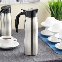 Choice 33 oz. Stainless Steel Insulated Slimline Carafe / Server