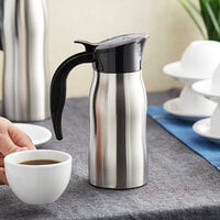Choice 24 oz. Stainless Steel Insulated Slimline Carafe / Server