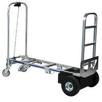 Wesco Industrial Products 220656 CobraPro Sr. 600 / 1200 lb. Battery-Powered Convertible Hand Truck with 10 inch Pneumatic Wheels and Continuous Handle - 24V