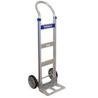 Wesco Industrial Products 220375 Cobra-Lite Series 410 600 lb. Aluminum Hand Truck with 10 inch PE Pneumatic Wheels and 14 inch Nose Plate