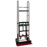 Wesco Industrial Products 230018 1200 lb. Steel Appliance Hand Truck with 8 inch Moldon Rubber Wheels and Auto-Rewind Ratchet