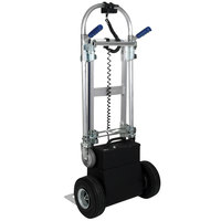 Wesco Industrial Products 220653 CobraPro Jr. 600 / 1200 lb. Battery-Powered Convertible Hand Truck with 10 inch Pneumatic Wheels and Dual Hand Grips - 24V