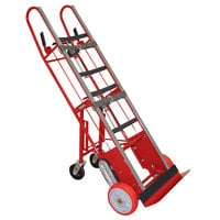 Wesco Industrial Products 230076 27 inch x 16 inch x 72 inch 1800 lb. Heavy-Duty Appliance Hand Truck with 24 inch Nose Plate and Swivel Casters
