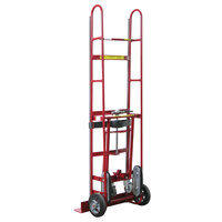 Wesco Industrial Products 230036 1200 lb. Steel Appliance Hand Truck with 8 inch Moldon Rubber Wheels and Manual Ratchet