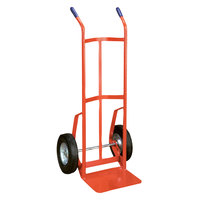 Wesco Industrial Products 210382 800 lb. Steel Industrial Hand Truck with 10 inch Solid Rubber Wheels