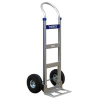 Wesco Industrial Products 220322 Cobra-Lite Series 410 600 lb. Aluminum Hand Truck with 10 inch Pneumatic Wheels and 14 inch Nose Plate