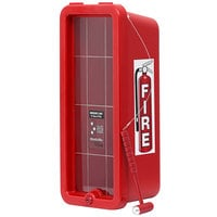 Cato 10551-H Chief Red Surface-Mounted Fire Extinguisher Cabinet with Hammer Attachment for 5 lb. Fire Extinguishers