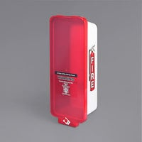 Cato 95102 Warrior White Surface-Mounted Fire Extinguisher Cabinet with Red Pull-Cover for 10 lb. Fire Extinguishers