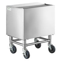 Regency 24 inch x 18 inch Stainless Steel Portable Ice Bin with Sliding Lid