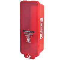Cato 95152 Warrior Red Surface-Mounted Fire Extinguisher Cabinet with Red Pull-Cover for 10 lb. Fire Extinguishers