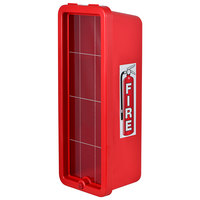 Cato 11051-O Chief Red Surface-Mounted Fire Extinguisher Cabinet for 10 lb. Fire Extinguishers