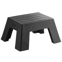 Regency 18 inch x 22 inch x 12 inch Black Plastic Step Stool / Aisle Display - 750 lb. Capacity