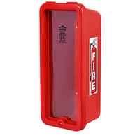 Cato 10551-P Island Chief Red Surface-Mounted Fire Extinguisher Cabinet with Pull-Panel for 5 lb. Fire Extinguishers