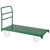 Wesco Industrial Products 272266 24 inch x 39 1/2 inch 4000 lb. Green Heavy-Duty Steel Platform Truck