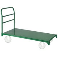 Wesco Industrial Products 272268 27 inch x 57 1/2 inch 4000 lb. Green Heavy-Duty Steel Platform Truck