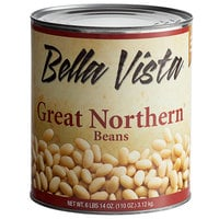 Bella Vista #10 Can Great Northern Beans in Brine - 6/Case