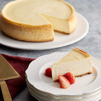 Pellman 60 oz. 9 inch Uncut Plain New York-Style Cheesecake - 6/Case