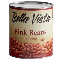 Bella Vista #10 Can Pink Beans in Brine - 6/Case
