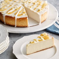 Pellman 60 oz. 9 inch Pre-Cut Lemon Cheesecake - 6/Case