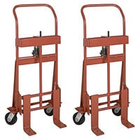 Wesco Industrial Products 260086 Rais-N-Rol 23 inch x 15 1/2 inch x 48 3/8 inch Machinery Mover with 5 inch Phenolic Casters - 2000 lb. Capacity