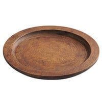 Valor 10 3/4 inch Round Rubberwood Underliner with Rustic Chestnut Finish