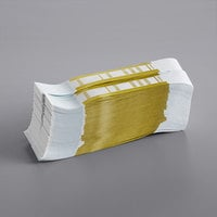 Mustard Self-Adhesive Currency Strap - $10,000   - 1000/Case