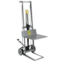 Wesco Industrial Products 260005 400 lb. 2 Wheel Aluminum Hydraulic Pedalift with 22 inch x 20 inch Platform and 54 inch Lift Height