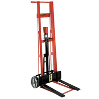 Wesco Industrial Products 260007 750 lb. 2 Wheel Steel Hydraulic Pedalift with 3 inch x 18 inch Forks and 54 inch Lift Height