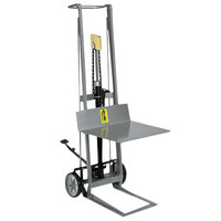 Wesco Industrial Products 260004 400 lb. 2 Wheel Aluminum Hydraulic Pedalift with 22 inch x 20 inch Platform and 40 inch Lift Height