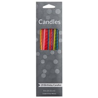 Creative Converting 101717 7 3/4 inch Two-Tone Assorted Party Candle   - 20/Pack