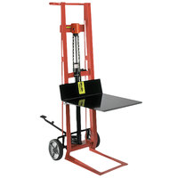Wesco Industrial Products 260003 750 lb. 2 Wheel Steel Hydraulic Pedalift with 22 inch x 22 inch Platform and 54 inch Lift Height