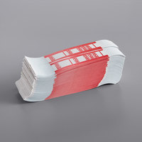 Red Self-Adhesive Currency Strap - $500 - 1000/Case