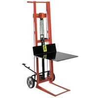 Wesco Industrial Products 260001 750 lb. 2 Wheel Steel Hydraulic Pedalift with 20 inch x 16 inch Platform and 40 inch Lift Height