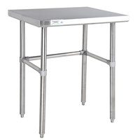 Regency 24 inch x 36 inch 14-Gauge 304 Stainless Steel Commercial Open Base Work Table