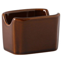 Tuxton BAQ-034 DuraTux 3 1/2 inch Caramel Sugar Packet Holder / Caddy - 12/Case